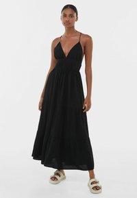 Bershka - Maxi dress - black - 0