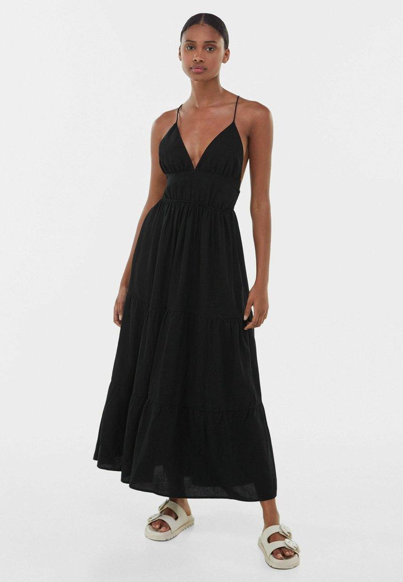Bershka - Maxi dress - black