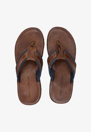 ZEHENTRENNER - T-bar sandals - mittelbraun