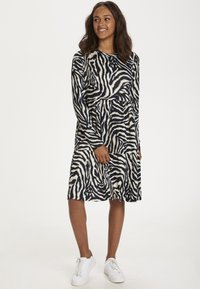 Kaffe - Day dress - black/beige zebra print - 0