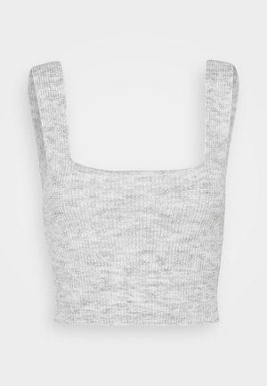 PCAMALIE BRADIGAN - Top - light grey melange