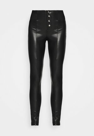 ONLZABO BUTTON - Legging - black