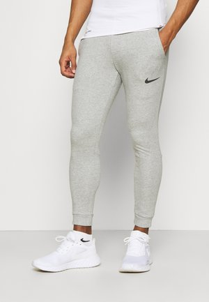 PANT TAPER - Pantalones deportivos - dark grey heather/black