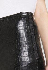 Topshop - CROC FLARE - Trousers - black - 4