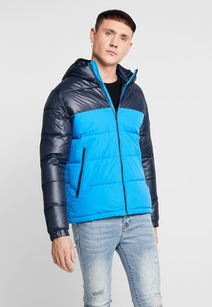 JCOOSCAR JACKET HOOD - Winter jacket - indigo bunting/sky captain top