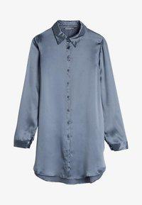 Intimissimi - BLUSE AUS SEIDE MIT KLASSISCHER MANSCHETTE - Pyjama top - blue - 3
