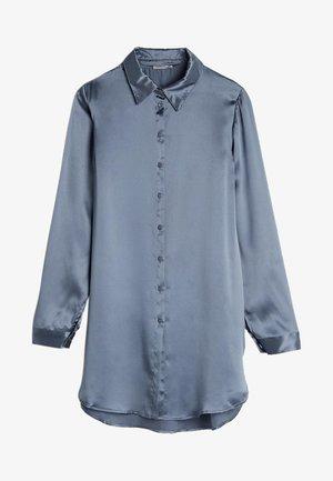 BLUSE AUS SEIDE MIT KLASSISCHER MANSCHETTE - Pyjama top - blue