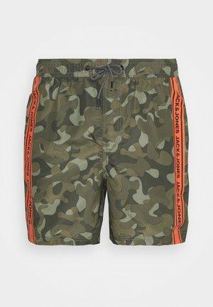 JJIBALI TAPE - Swimming shorts - olive night