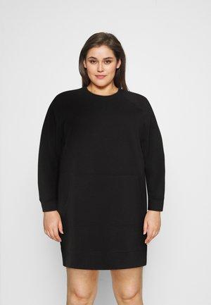 NMLUPA KANGAROO DRESS - Denní šaty - black