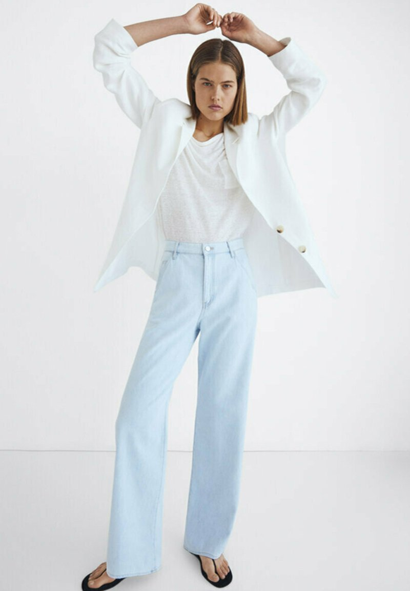 Massimo Dutti - Jeansy Relaxed Fit - blue