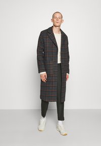 Another Influence - BLAKE LONGLINE CASUAL OVERCOAT - Classic coat - charcoal - 1