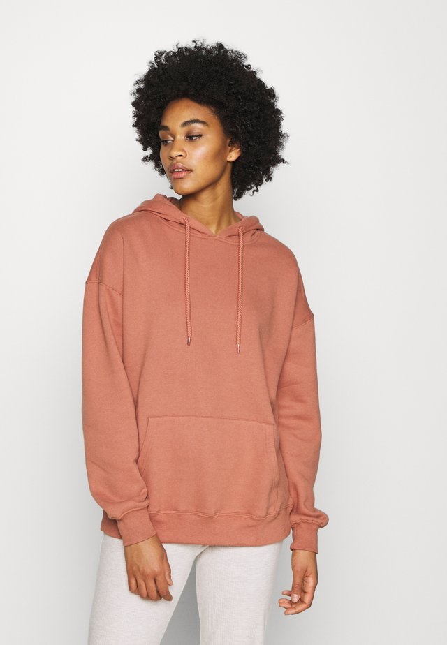 DAD MAXI PEACHED HOODIE - Bluza z kapturem - beige