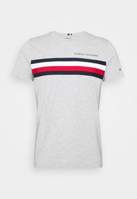 Tommy Hilfiger - GLOBAL STRIPE TEE - T-shirt con stampa - grey - 4