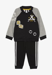 adidas Performance - COLLEGIATE TRACKSUIT BABY SET - Survêtement - black/medium greyh/white - 3