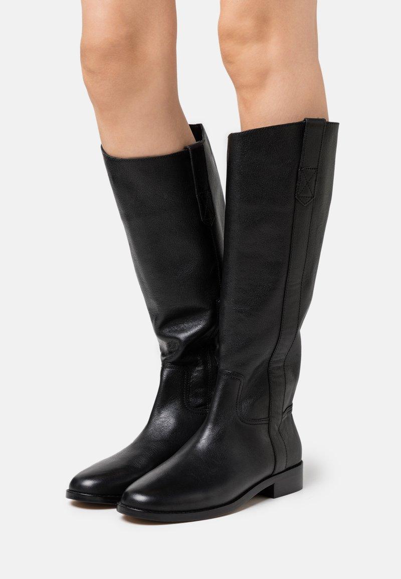 Madewell - WINSLOW KNEE HIGH BOOT - Vysoká obuv - true black