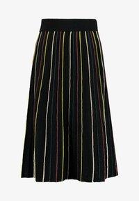 King Louie - STRIPE SKIRT GLITTER STRIPE - A-snit nederdel/ A-formede nederdele - black - 4
