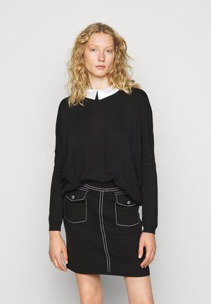 COLLAR SPECIAL - Sweter - black