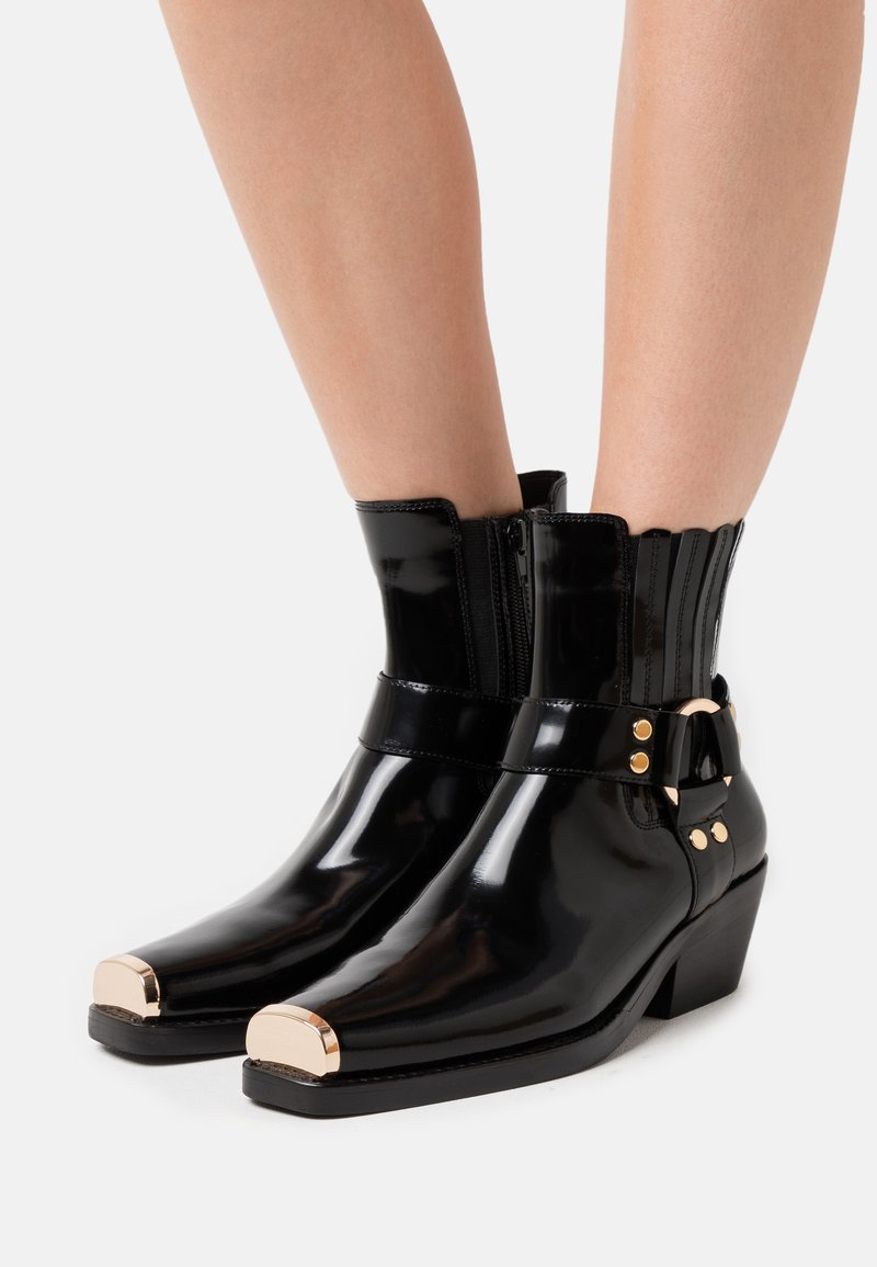 Jeffrey Campbell - POKER - Classic ankle boots - black/gold