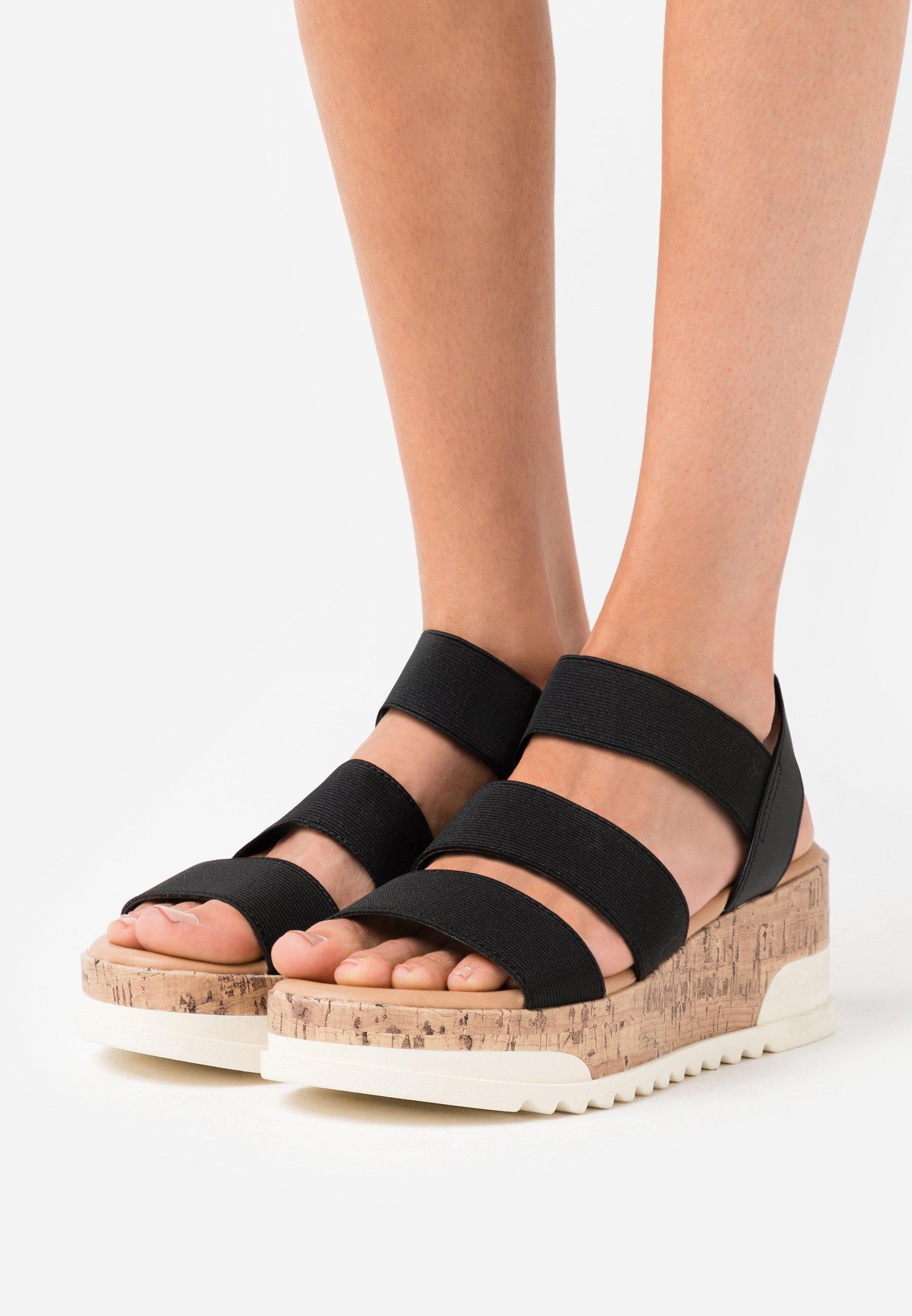 Hoge kwaliteit Opruiming Madden Girl BRENNA - Sandalen met plateauzool - black paris - mbxux