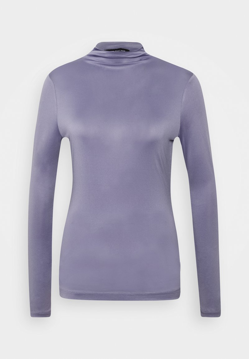 Who What Wear - MOCK NECK - Long sleeved top - dusk