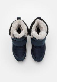 Jack Wolfskin - POLAR WOLF TEXAPORE MID VC UNISEX - Winter boots - dark blue/offwhite - 3