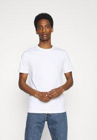 Pier One - 7 PACK - T-shirt basique - black/white/olive - 1