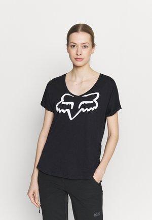 BOUNDARY  - T-shirt z nadrukiem - black