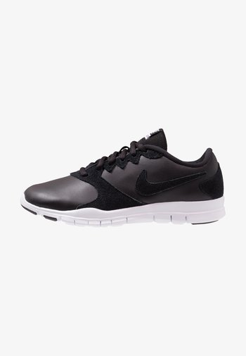 FLEX ESSENTIAL TR - Sports shoes - black/white/light crimson