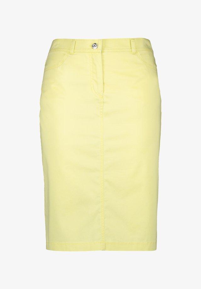 MIT PAPERPAGBUND - A-line skirt - limonade