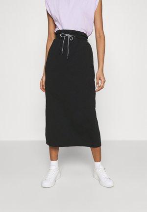 INFUSE SKIRT - Maxi skirt - puma black