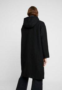 Monki - LEMON HOODED COAT - Kåpe / frakk - black dark - 2