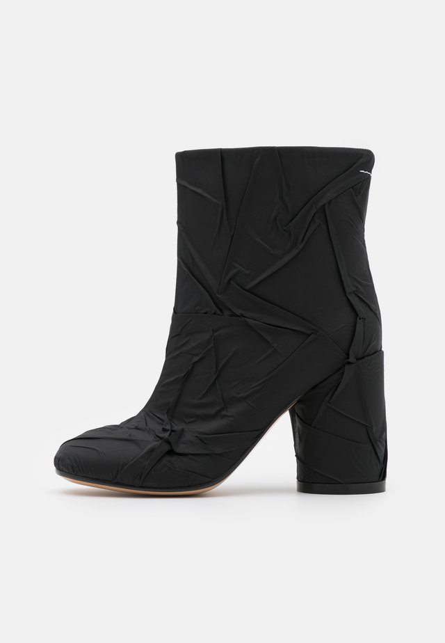 STIVALETTO TUBO STROPICCIATO - High heeled ankle boots - black