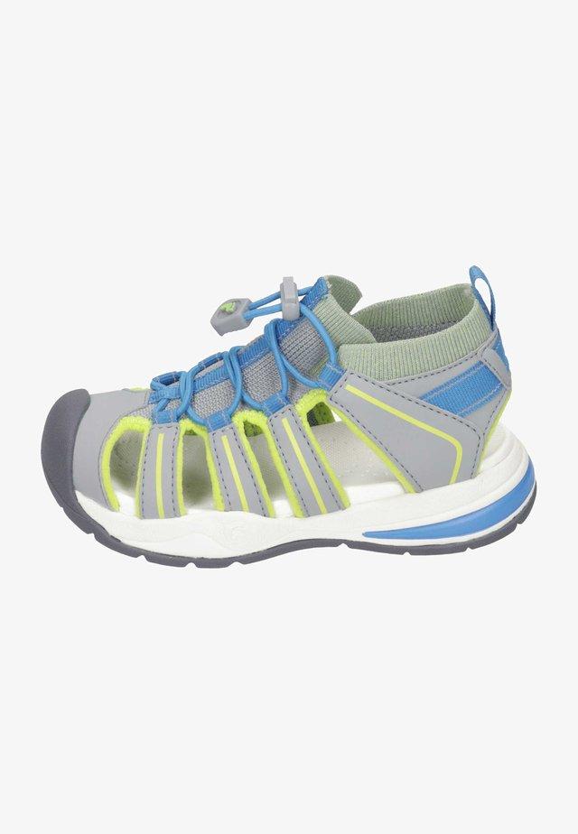 BYRON - Walking sandals - graphit/kiwi/sky