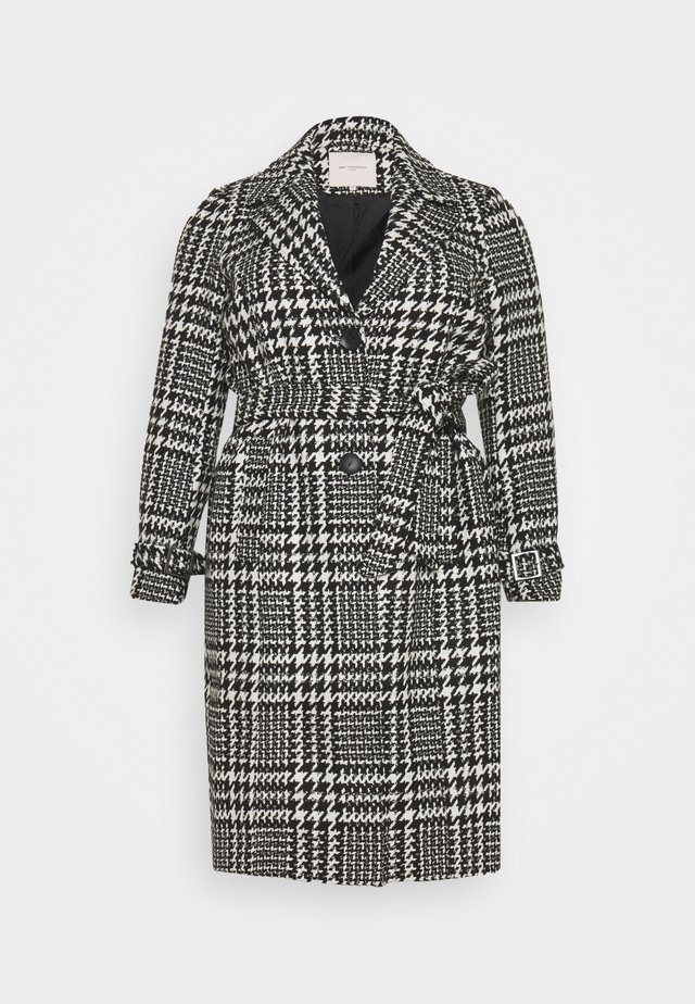 CARFANDANGA LONG COAT - Zimní kabát - black/white