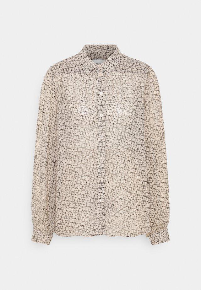 LACING - Button-down blouse - cement
