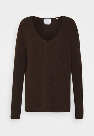 Jumper - mocca brown