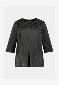 Ulla Popken - ZEBRA STRIPE - Blouse - graphite grey - 1