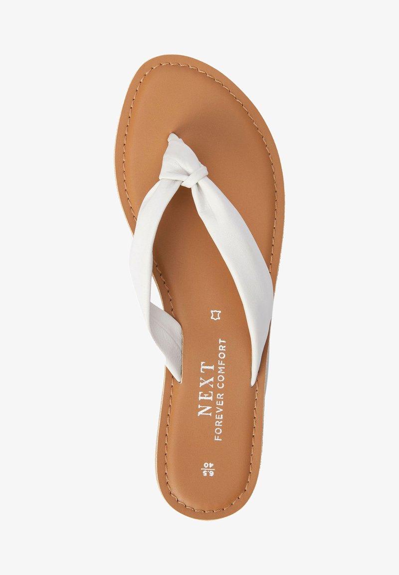 Next - T-bar sandals - white