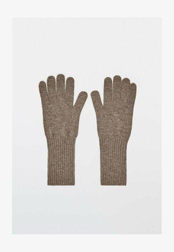 AUS WOLLE UND KASCHMIR  - Gloves - metallic grey