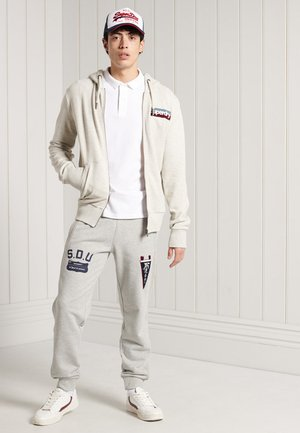 CORE LOGO - Sweatjacke - off white marl