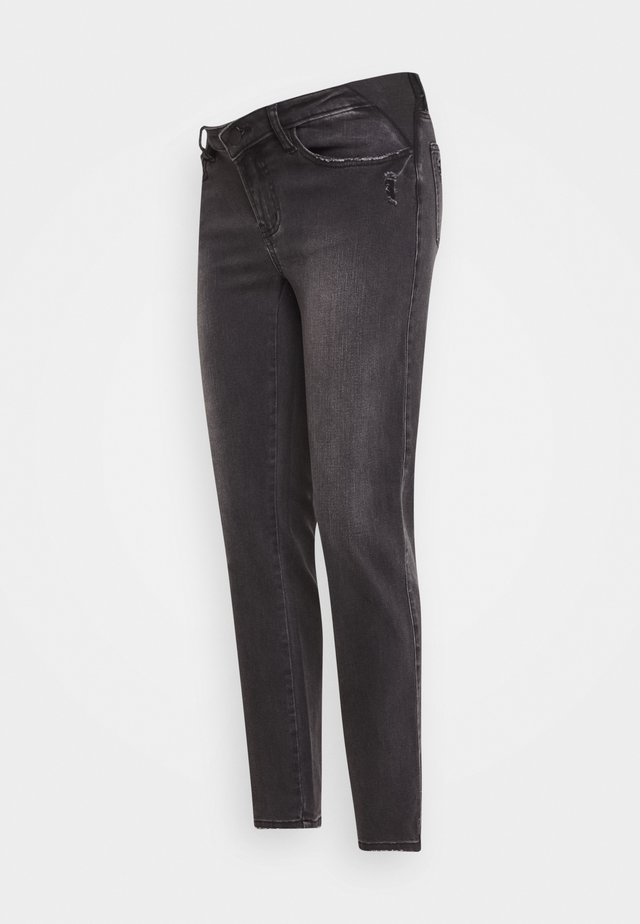 DYLAN DISTRESSED - Straight leg jeans - black