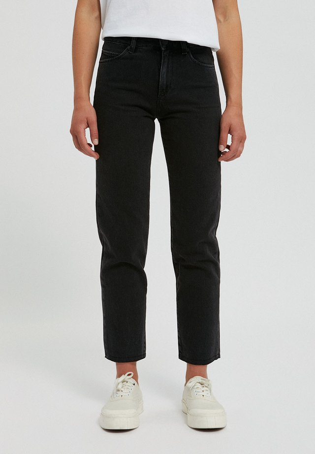 Straight leg jeans - black-grey