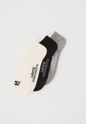LOW CUT BATWING LOGO 3 PACK - Socks - white/grey/black