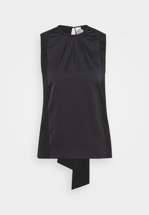 TIE BACK - Blouse - black