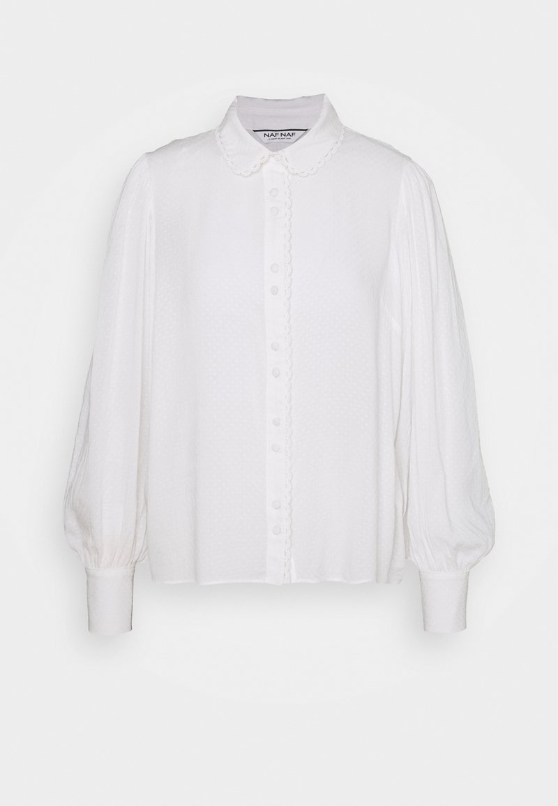 NAF NAF - FLORINA - Button-down blouse - ecru