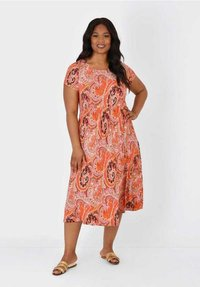Live Unlimited London - Jersey dress - orange - 0