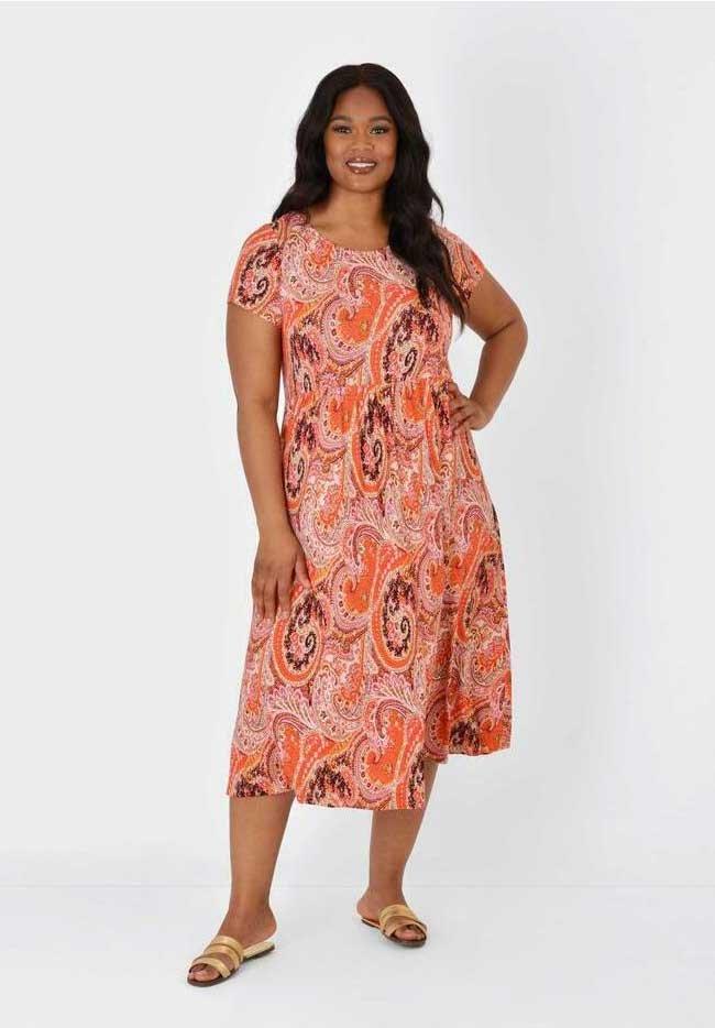 Live Unlimited London - Jersey dress - orange
