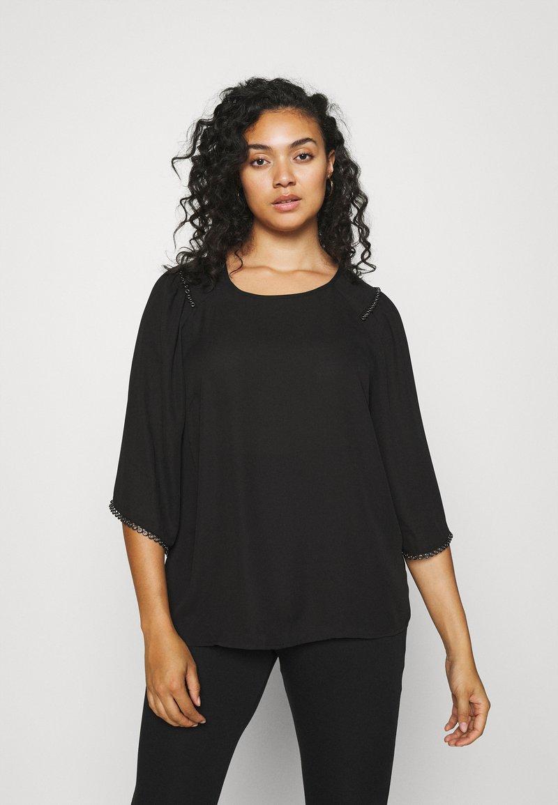 Zizzi - XDICTE  3/4 BLOUSE - Long sleeved top - black