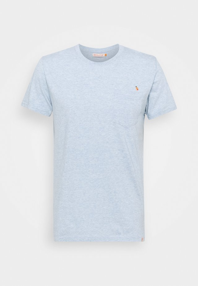 REGULAR - T-shirt print - light blue