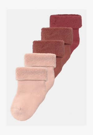 NBFRIFFENI TERRY 5 PACK - Socks - withered rose